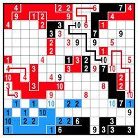 Color Link-a-Pix - step 3 (A)