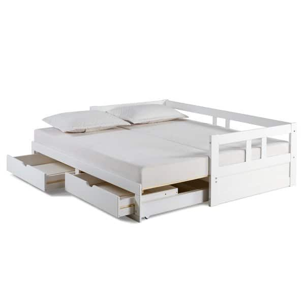 Melody Twin To King Trundle Daybed With Storage Drawers Daybed With Storage Daybed With Trundle Under Bed Storage
