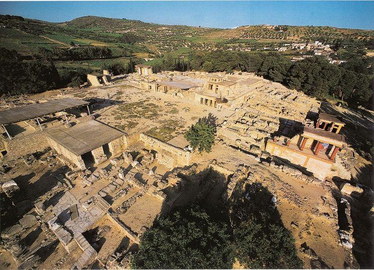 Palazzo di Cnosso, ca 1700-1400 a.C., parte centrale dell'isola di Creta