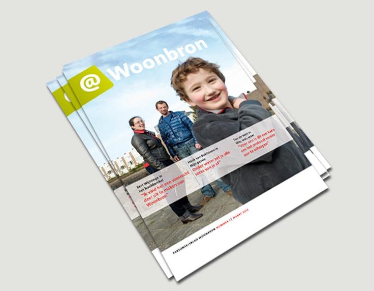 @woonbron, personeelsblad, Woonbron / visuele identiteit, tijdschriftontwerp / 2012 ontwerp Cascade visuele communicatie Amsterdam