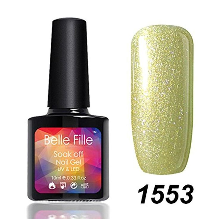 Belle Fille Soak Off UV Led Gel Nail Polish Manicure Glitter Colors Neon 1553 10ml - Brought to you by Avarsha.com