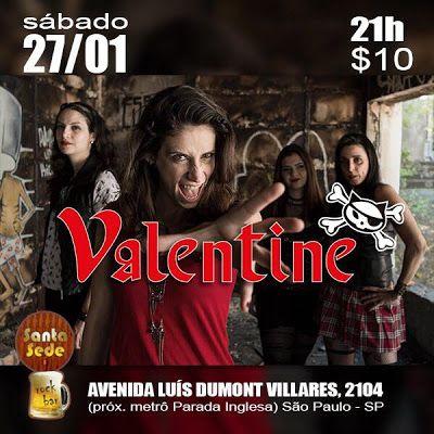 RockBrasileiro.Net: Valentine ao vivo no Santa Sede