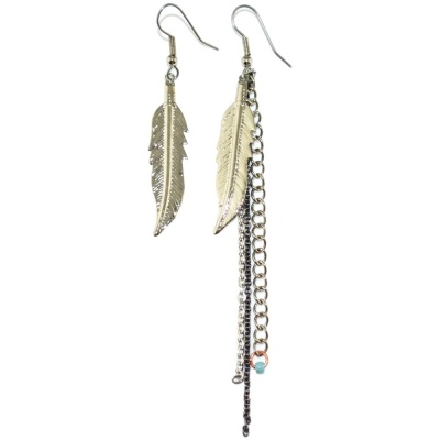 toodles BY TOODLEBUNNY Feather Chain Earrings