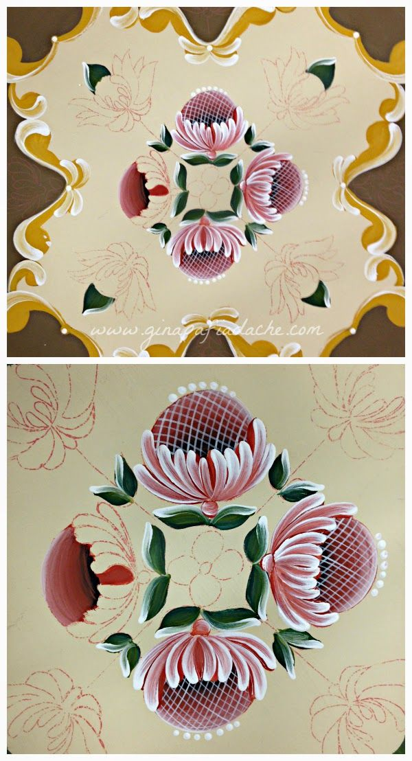 Atelier Gina Pafiadache: Gérbera em Bauernmalerei