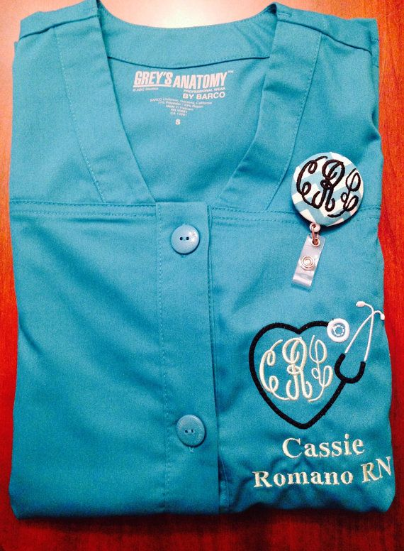 Custom Embroidered and Monogrammed Scrub Jacket by dicorembroidery