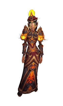 Firehawk Robes of Conflagration - Transmog Set - World of Warcraft