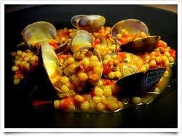 Fregola (pasta) with clams