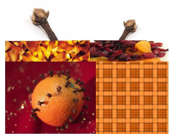 Orange #clove scented drawer sachet #handmade fresh on #etsy by #pebblecreekcandles