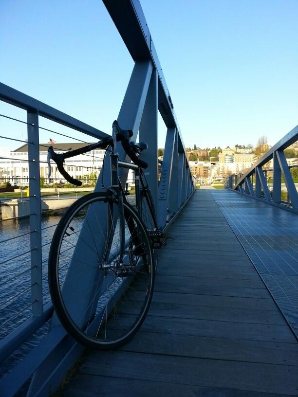 On the bridge at the South Lake