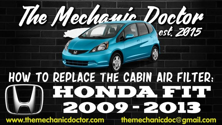 This video will show you step by step instructions on how to replace the cabin air filter on a Honda Fit 2009 - 2013.