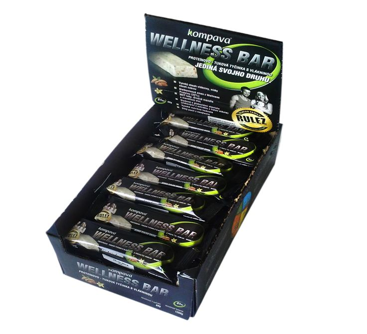 Proteinově-tuková tyčinka KOMPAVA Wellness bar