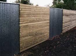 Image result for corrugated steel fence panels