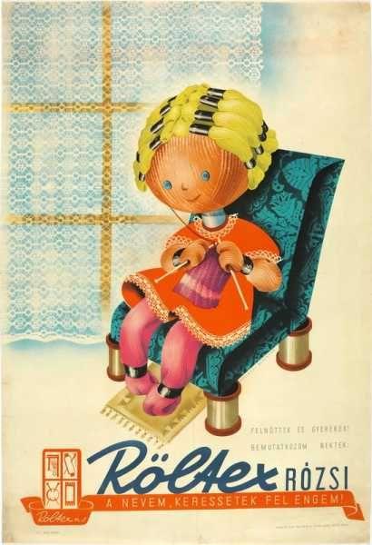 Röltex Rózsi retro plakát
