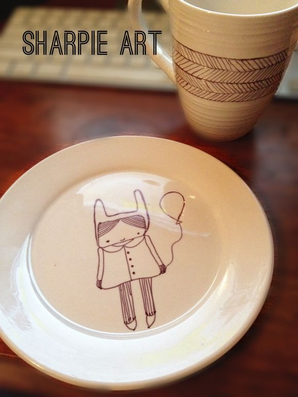 Sharpie Art.... design your own dinnerware!