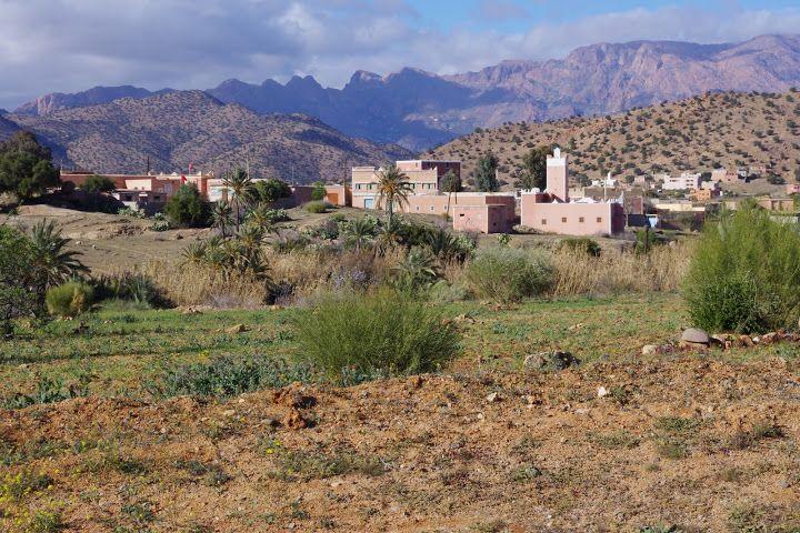 Cycling near Tafraoute, Morocco