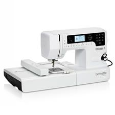 As a fully-fledged sewing and embroidery machine, the bernette Chicago leads a double life. Not only does it make sewing garments or quiltin...