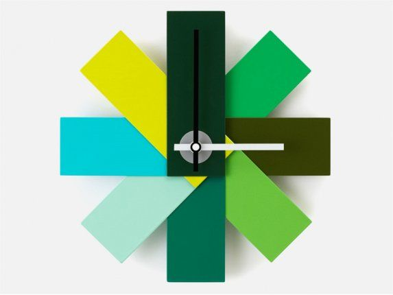 Zegar Watch Me zielony — Zegary i budziki Normann Copenhagen — sfmeble.pl