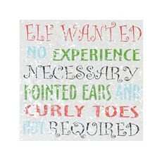 Make something similar for my Elves Wanted Bulletin Board