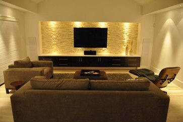 Crooked Lane - modern - media room - dallas - Modern Custom Homes, LLC