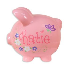 Personalized Pink Piggy Bank