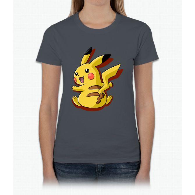 Pokemon Pikachu Orange Womens T-Shirt