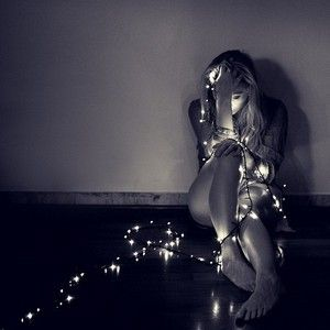 she wrapped herself in light to invade the darkness creeping into her thoughts - OMG BAD EMO WRAPPED IN LIGHTS PHOTOGRAPHY