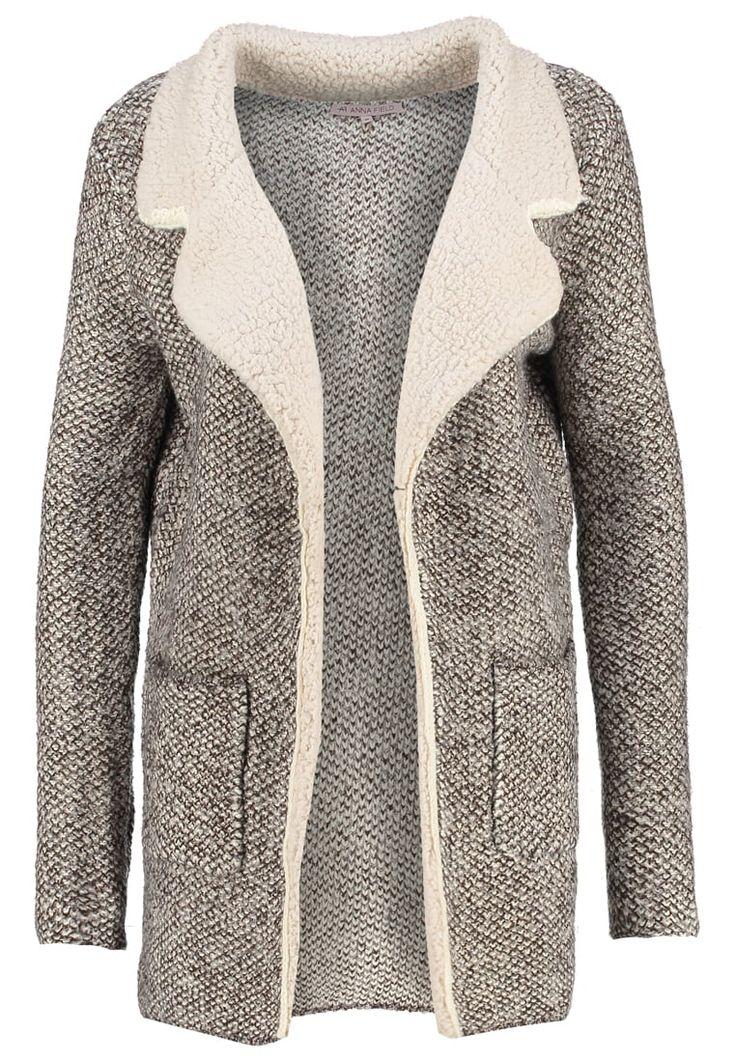 Anna Field Krótki płaszcz brown/white