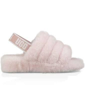 43a601508cb UGG Women's Fluff Yeah Slide Sheepskin in Seashell Pink, Size 11 ...