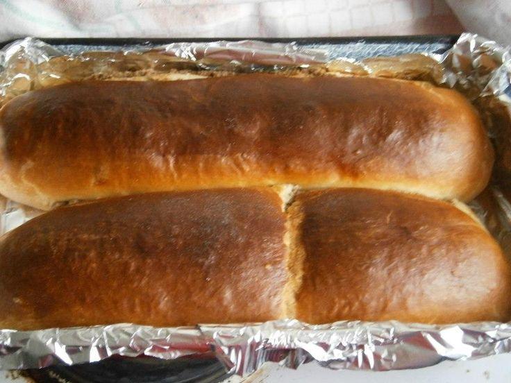 Karácsonyi diós beigli. A pozsonyi kifli tésztájából szoktam készíteni.