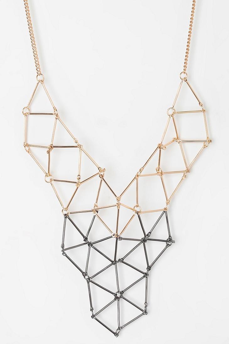 Geometric. #necklace