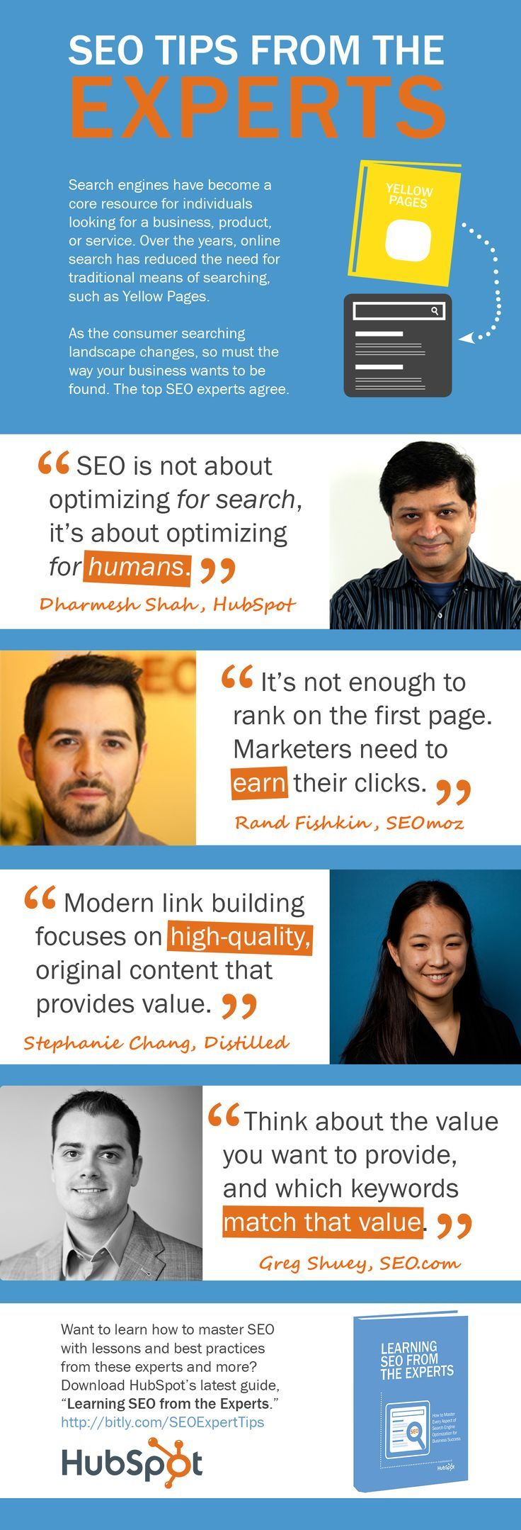 Tips From Industry Experts: An Infographic And  -- SEO Tips From the Experts Infographic and Ebook.
