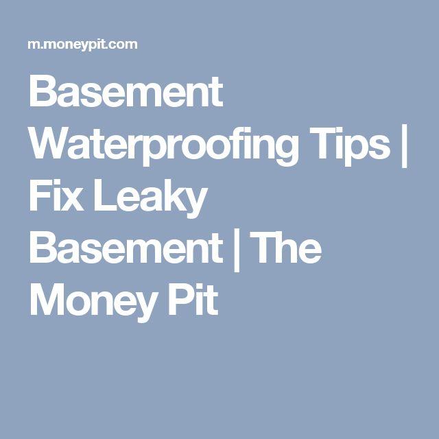17 Best Ideas About Basement Waterproofing On Pinterest