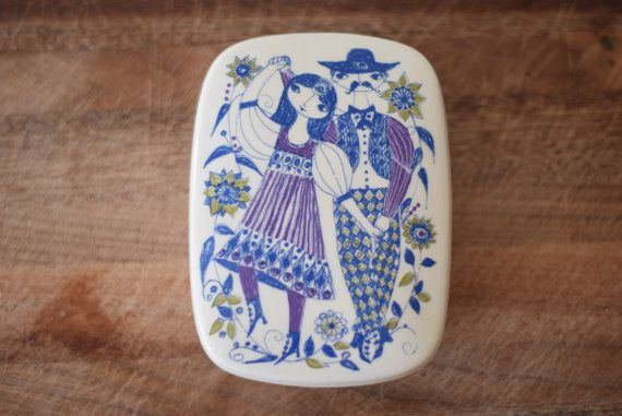 RARE Figgjo Flint Turi  LOTTE  butter dish / by littledanishmood
