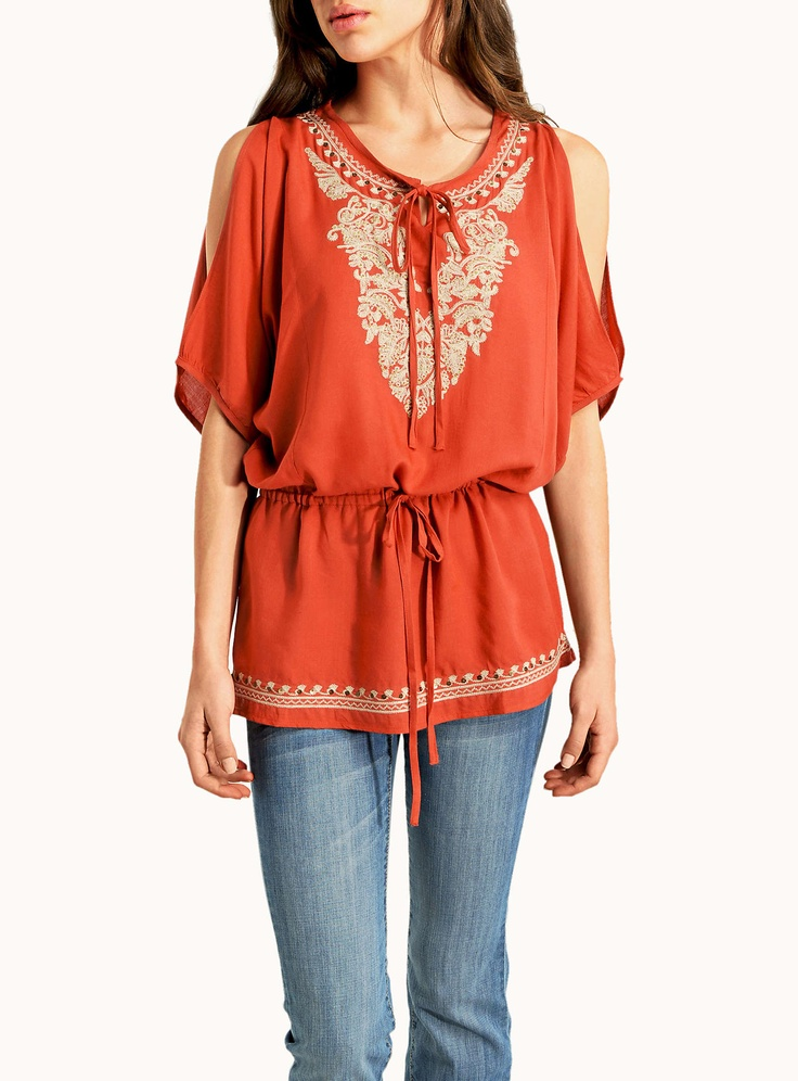GOLD EMBROIDERY INDIAN TUNIC