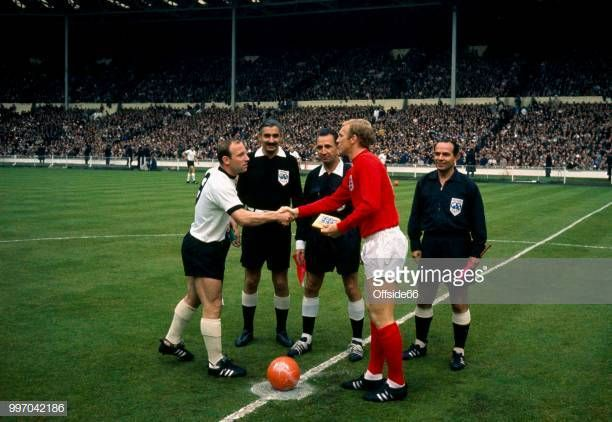 Captain Uwe Seeler Of West Germany Shakes Hands With Captain Bobby England Football Captain Germany National Football Team World Cup