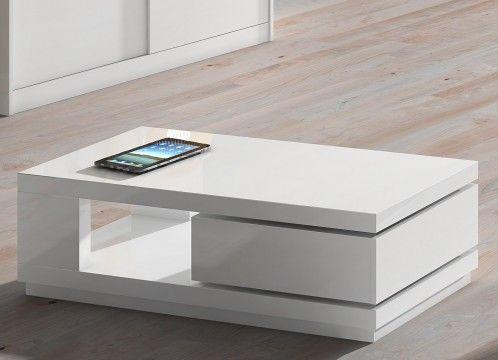 mesa de centro moderna lacado blanco