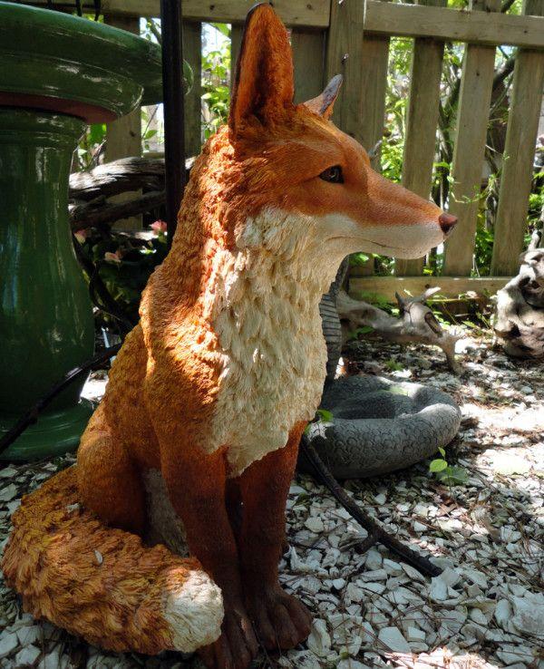 Fox statue from Wild Garden Accents. | Wild Garden Accents ...