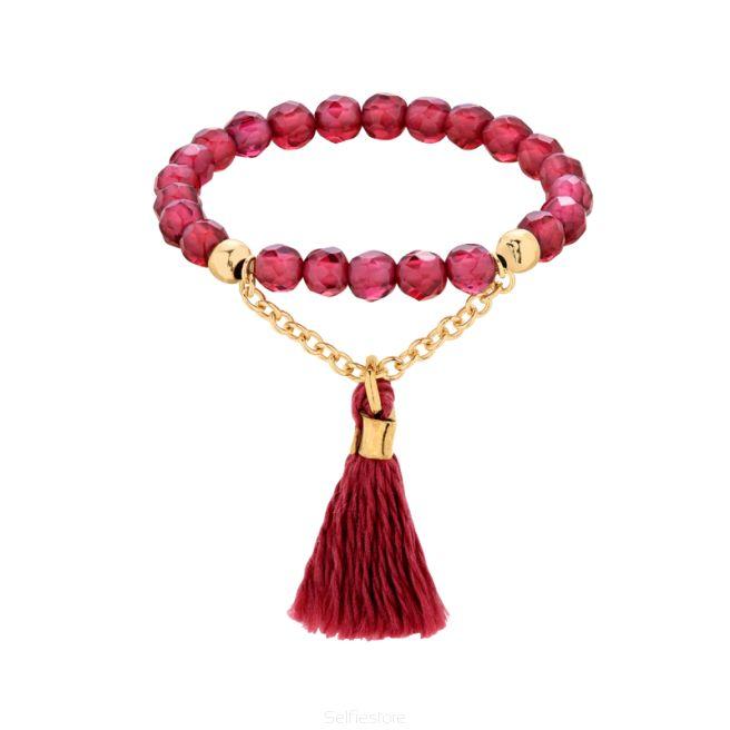 Pierścionek Drop Granat - Selfie Jewellery - Sklep Internetowy