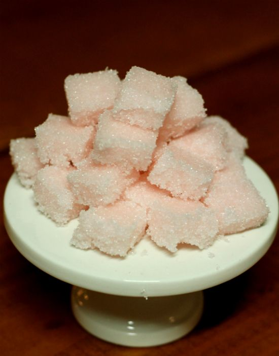 home-made rose flavored sugar cubes