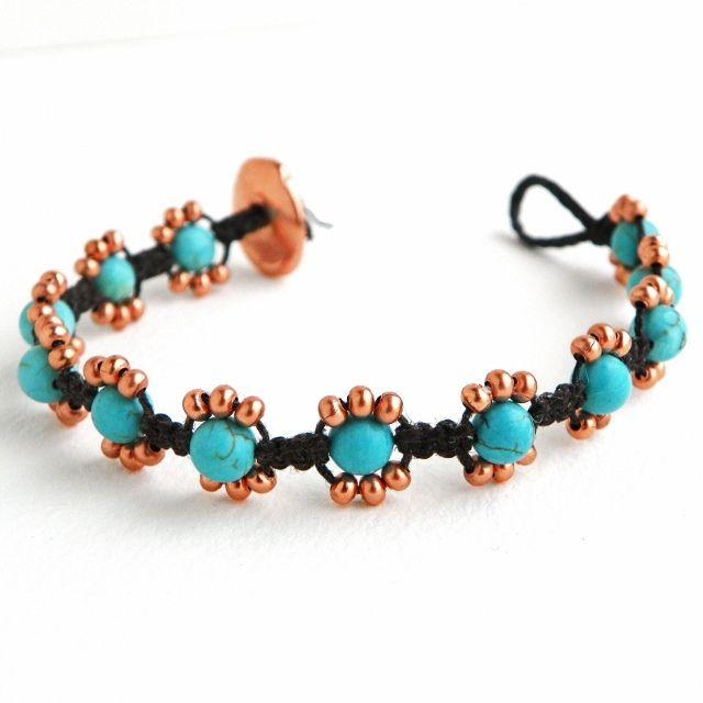 Beaded Macrame Bracelet by Erin Siegel Jewelry, via Flickr