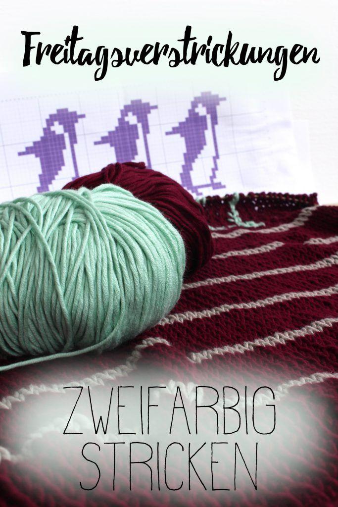 Ich lerne mehrfarbig stricken (zweifarbig, fürs erste) und versuche mich an Pinguinen auf dem Abruzzo Sweater von We are Knitters