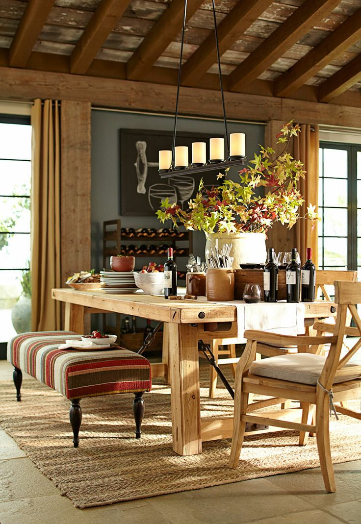 dining area rustic lodge style from pottery