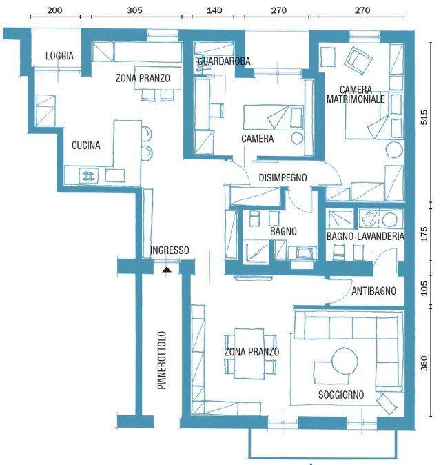 Una Casa Di 125 Mq Con Giochi Di Luce Naturale E A Led Cose Di Casa Planimetrie Di Case Piantine Di Case Design Case Moderne