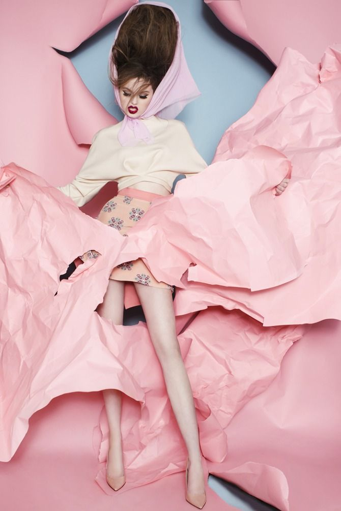 MATTHEW GALLAGHER - MILA VICTORIA --> I like the idea of ripped-style fabric like the background here