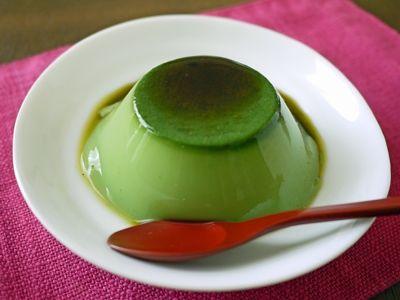 抹茶が香る黒糖抹茶ミルクゼリー - matcha pudding with black honey