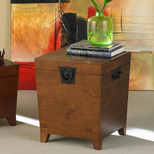 High Quality Southern Enterprises Pyramid Trunk End Table   $149.99 @hayneedle
