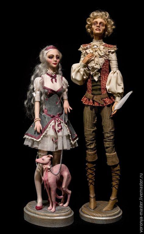 Купить Поэт и его Муза... - розовый, поэт, муза, любовь, левретка, гончая, собака