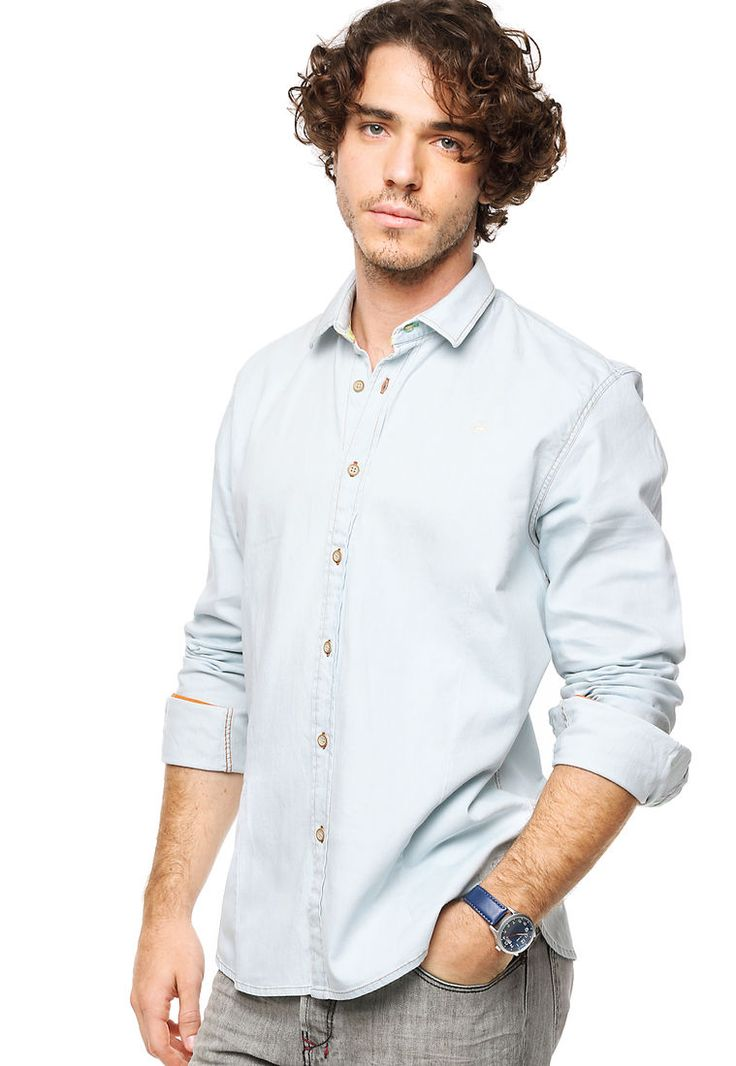 Camisa Celeste Key Biscayne Jean - Comprá Ahora | Dafiti Argentina