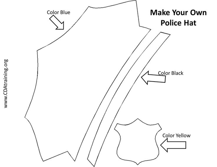 Police Officer Hat Coloring Page Sketch Coloring Page