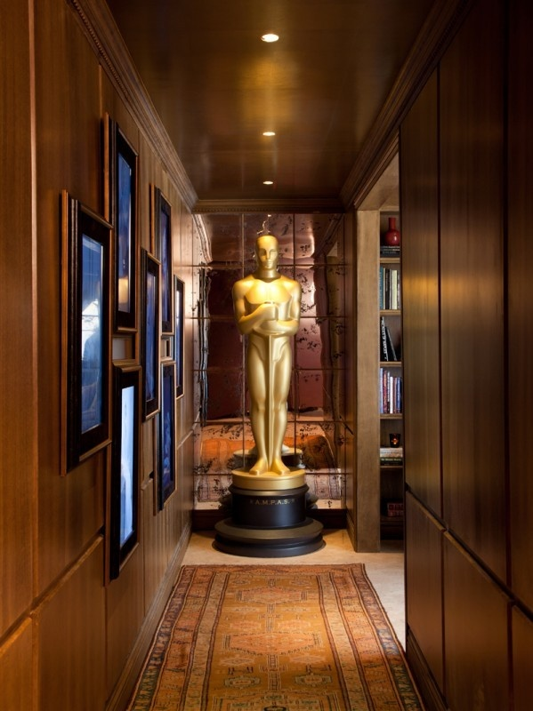 Designer Michael S Smith Featured Metallic Leaf Pewter In The Architectural Digest Sponsored Green Room At Annual Academy Awards